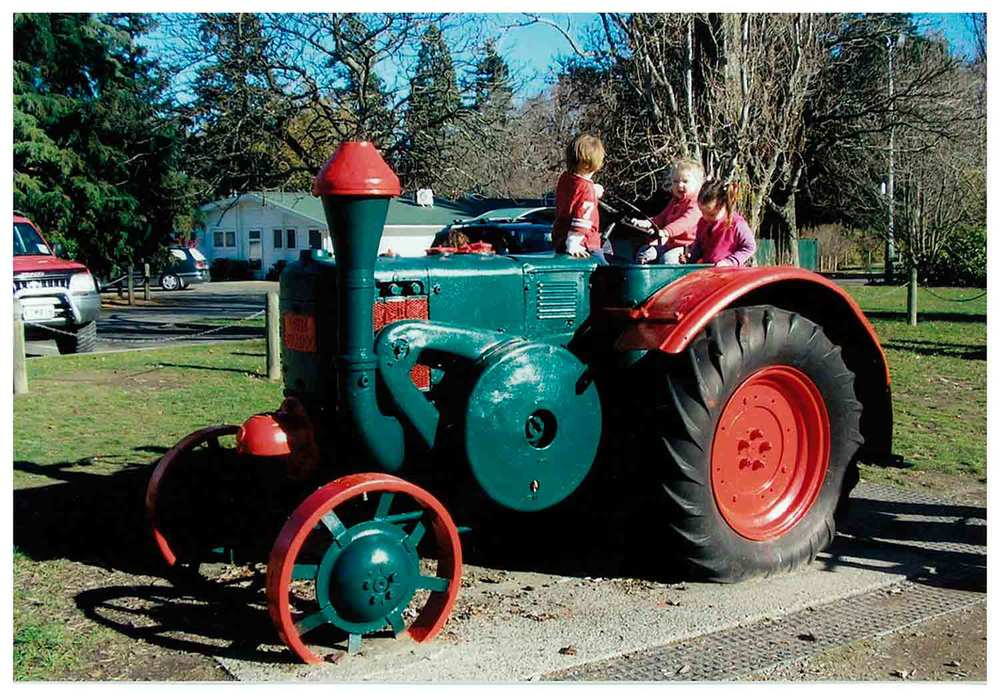 At Ashburton's Botanical Gardens this Lanz Bulldog tractor is now used as a children's play vehicle. These German tractors were built from 1921 right up to the '60s, the company being purchased by John Deere in 1956. Can one of our readers tell us when this particular Bulldog might have been built?