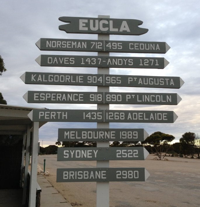 A great sign on the Nullarbor