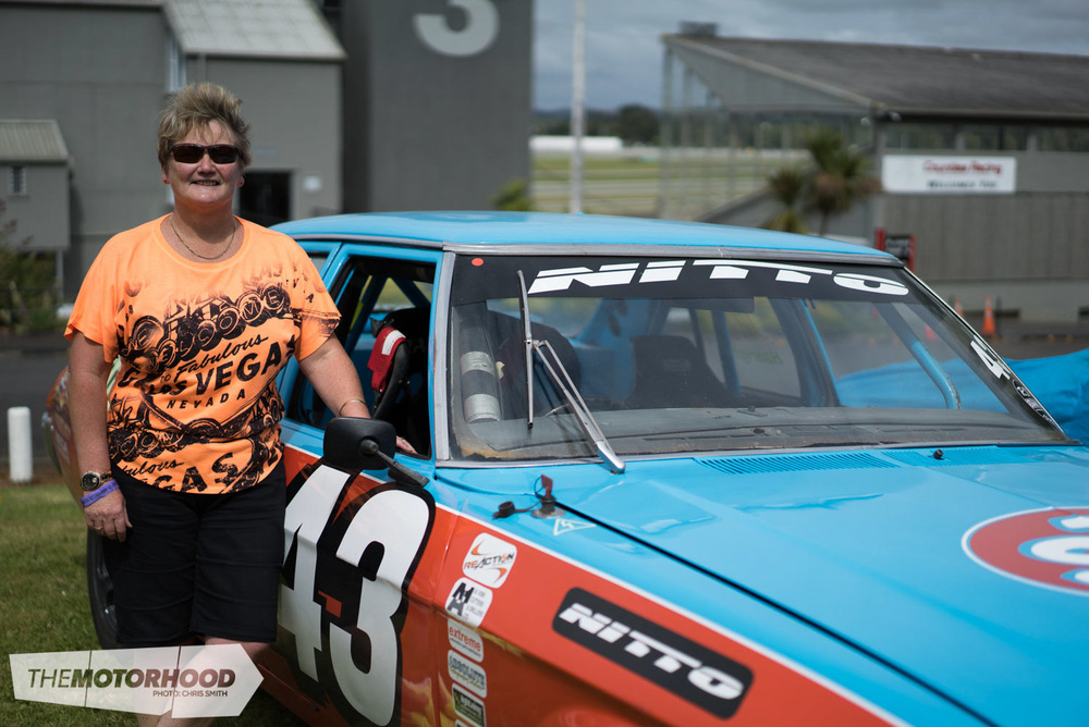 Sheryl Hanright has been racing her HQ for nearly a decade