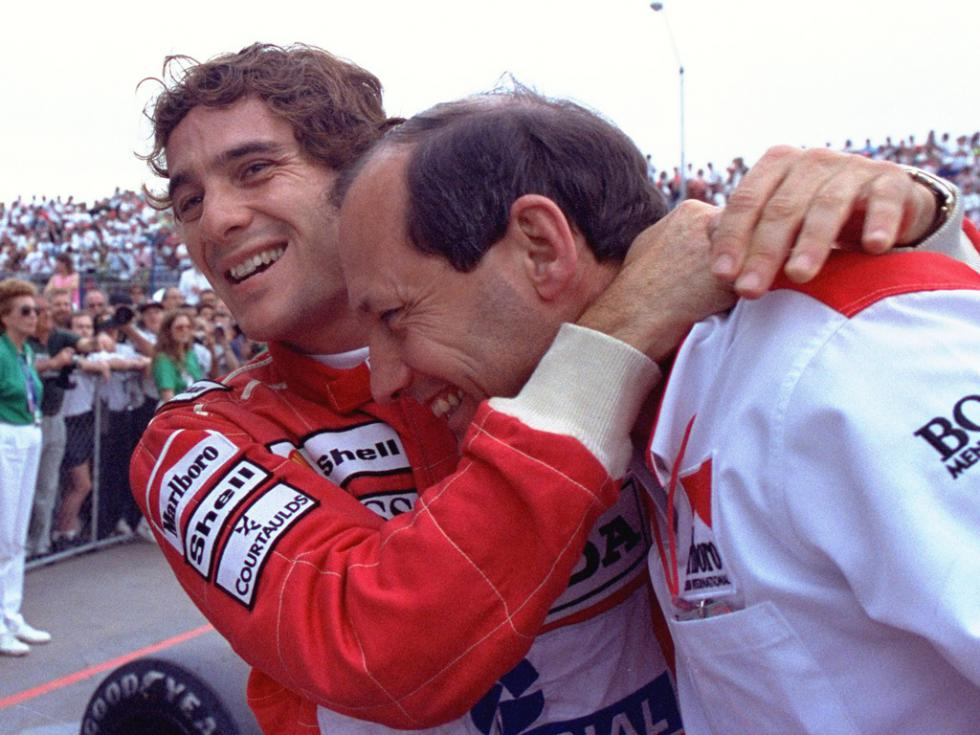 Just good mates — Ayrton Senna and Ron Dennis
