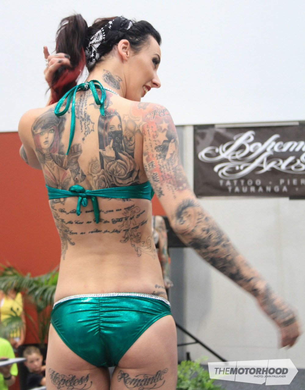 Serenity Steel was awarded first place in Miss Tattoo 2015