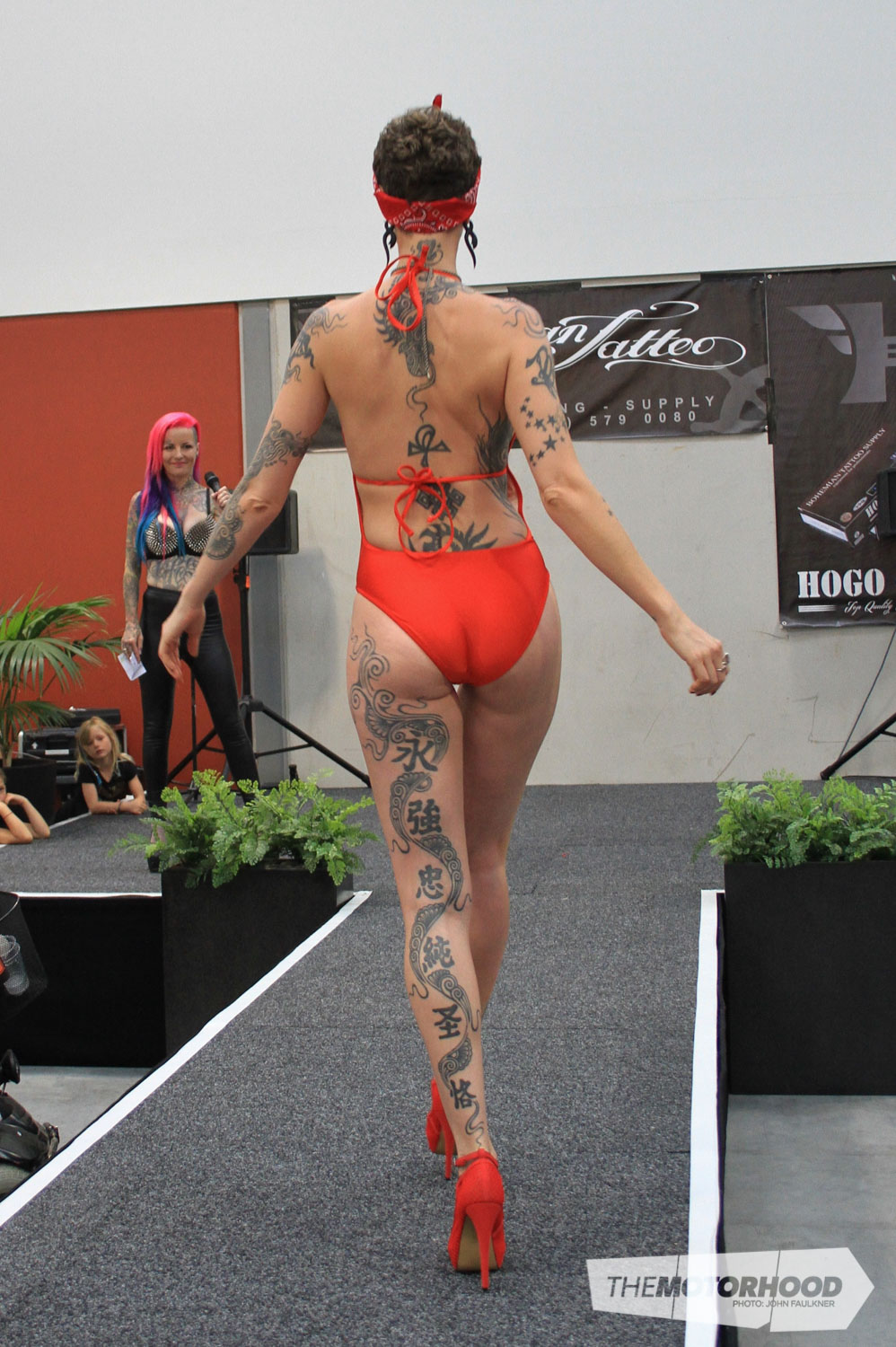 Emilie from San Francisco was awarded second place in Miss Tattoo 2015