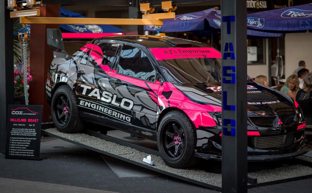 Sloan Cox has rebuilt Andrew Hawkeswood's Mitsubishi hillclimb beast.jpg
