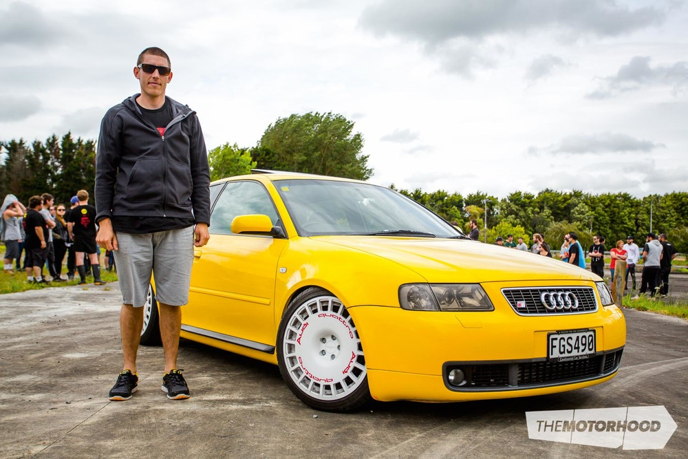 Name: Hans Scheltus Car: Audi S3 Wheels: 18x8.5-inch Rotiform VCE