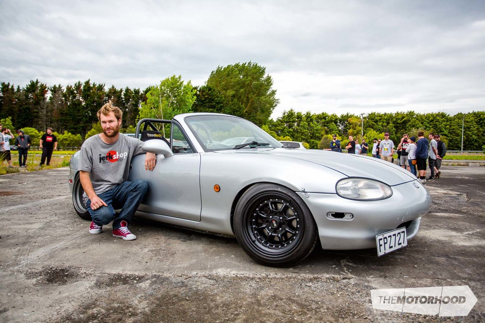 Name: Willy Cate Car: 13B PP 1999 Mazda MX-5  Wheels: 15x8-inch (0)/15x9-inch (0) XXR 002