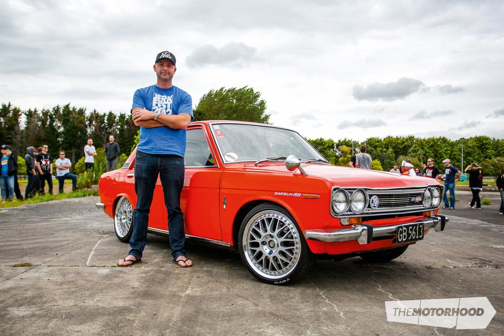 Name: Shannon Thickpenny Car: SR20DET 1972 Datsun 1600 Wheels: 17x6.5-inch/17x7.5-inch Work VS XX