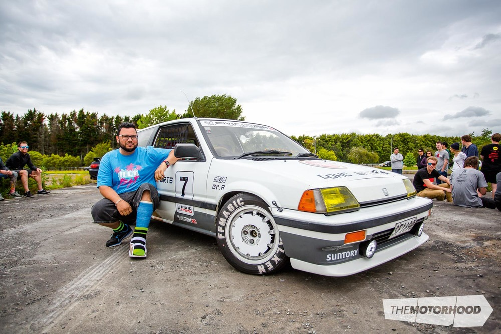 Name: Nigel James Car: Kanjo 1985 Honda Civic  Wheels: Factory, custom CNC'd turbo fans