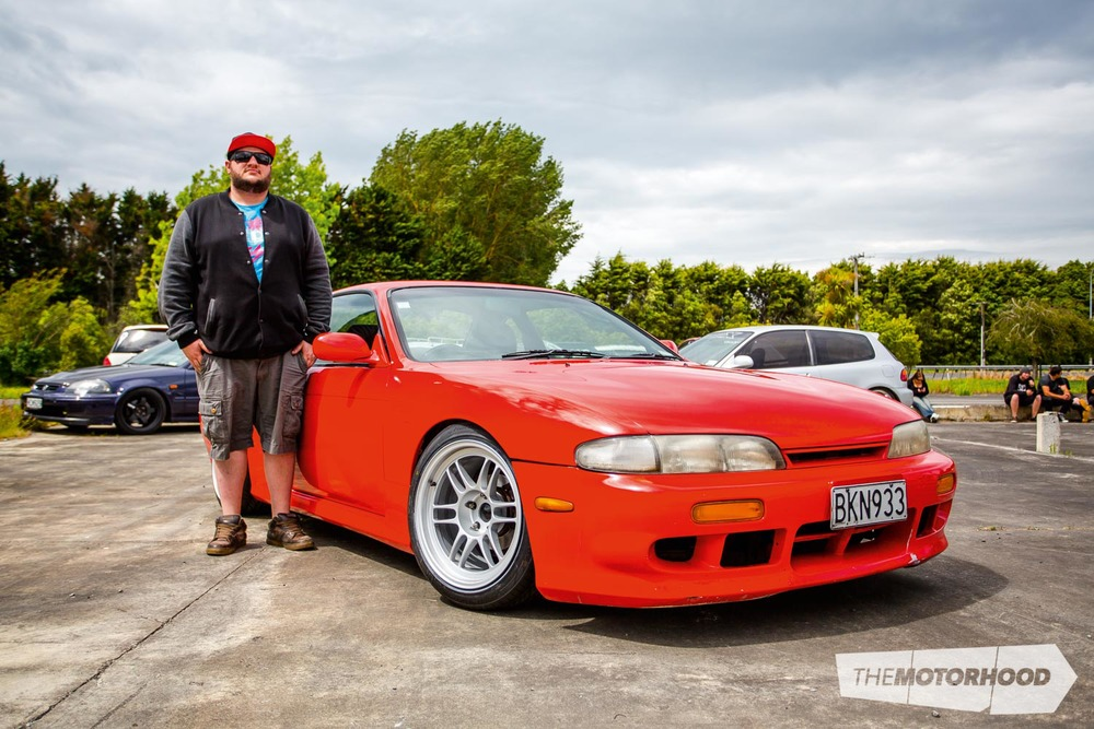 Name: Chris Wilkin Car: 1994 Nissan Silvia S14  Wheels: 17-inch Enkei RPF1