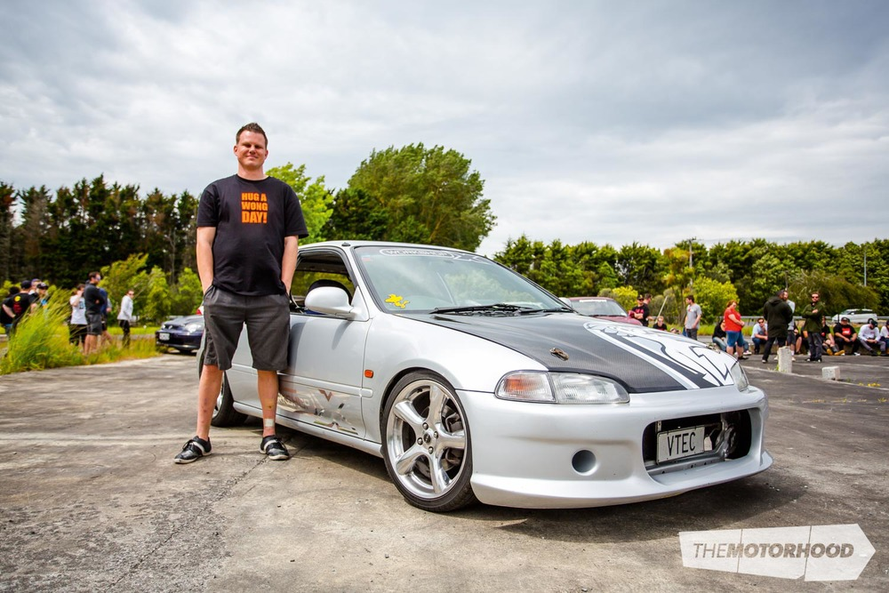 Name: James Lucas Car: Genuine OG Workshop X-chassis 001 EG Honda Civic  Wheels: 15x7-inch ROH Reflex