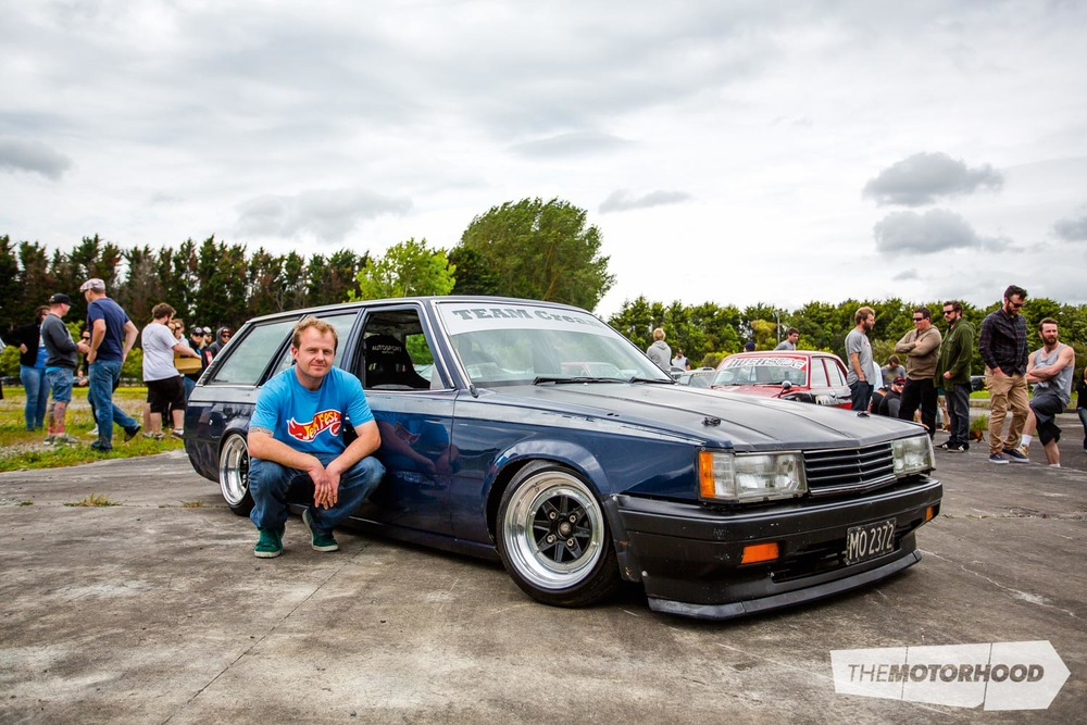 Name: Kelvin Taylor Car: SR20DE-powered Toyota Corona  Wheels:14x8-inch/ 14x8.5-inch SSR MKIII