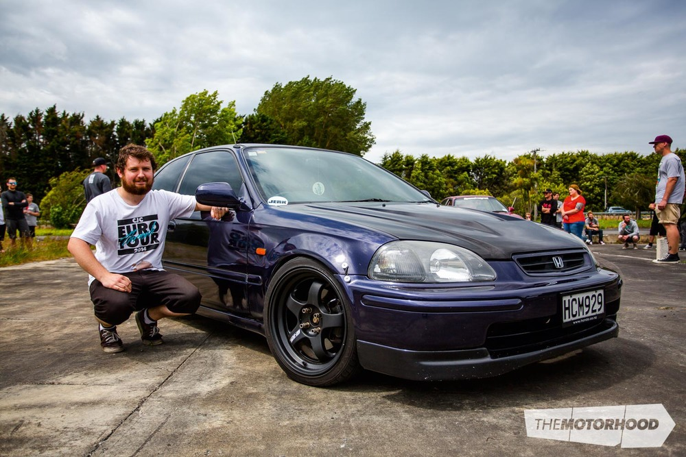 Name: Rob Turney Car: B18cr 1991 Honda Civic EK Wheels: 17x7-inch Work Meister S1