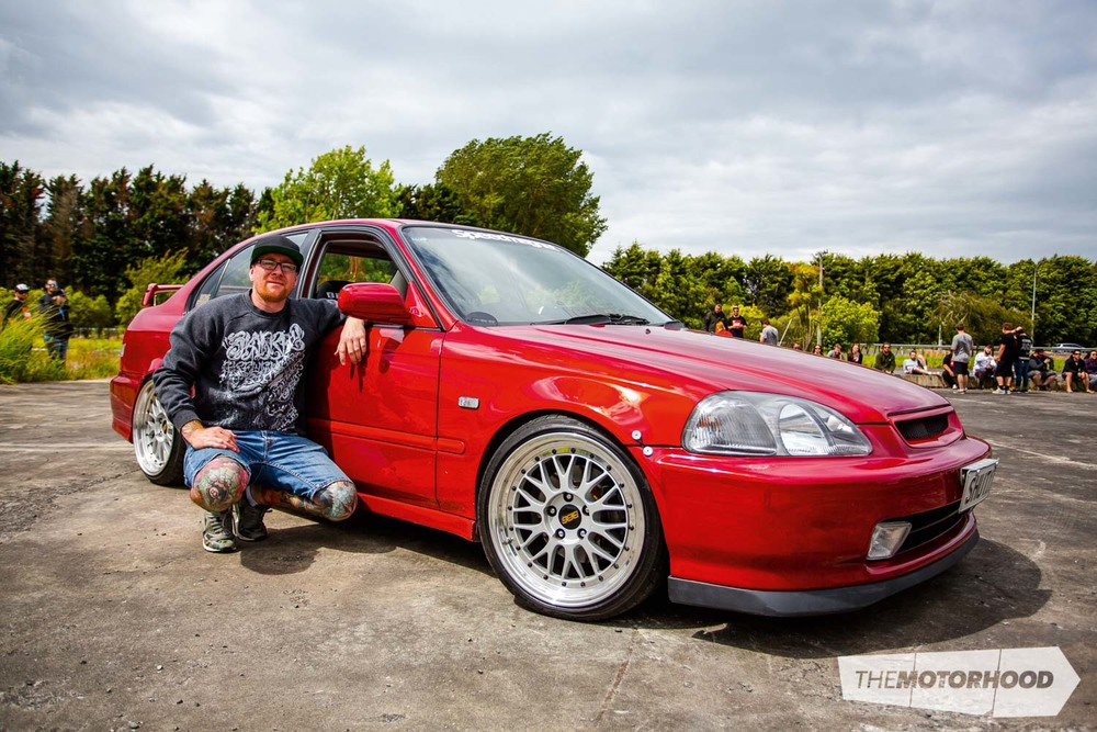 Name: Ants Wong Car: K20 1997 Honda Civic EK Wheels: 17x8-inch/17x9-inch BBS LM reverse face