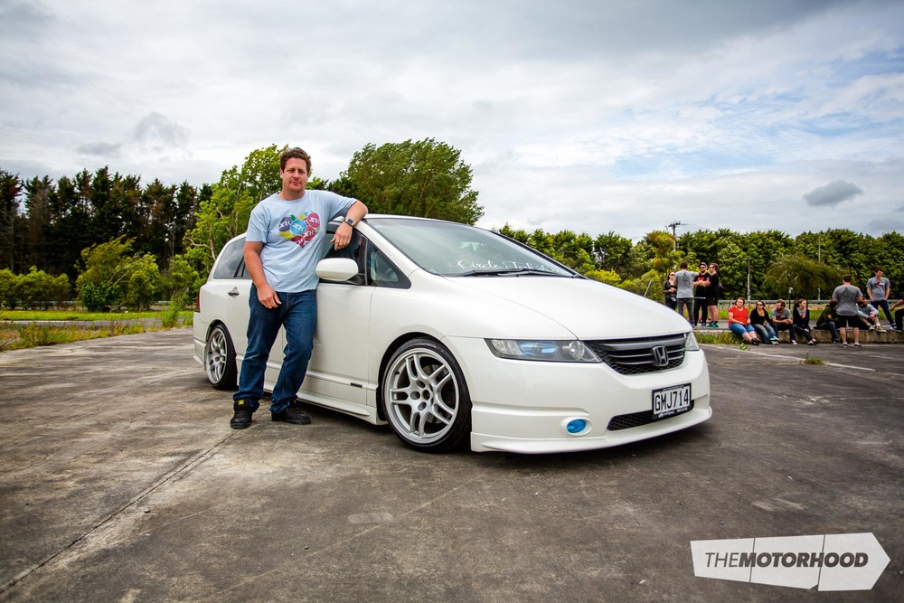 Name: Will Rolleston  Car: 2004 Honda Odyssey  Wheels: 17x9-inch Nissan R33 GT-R