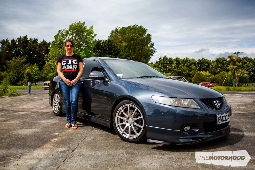 Name: Jen Dallimore  Car: Honda Accord CL7R Wheels: 17x7-inch Advan Kreutzer Xi