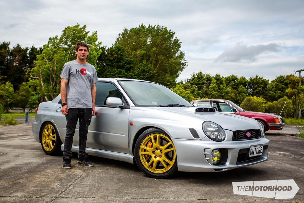 Name: Grey O'Rourke Car: 2000 V7 Subaru WRX  Wheels: Stock