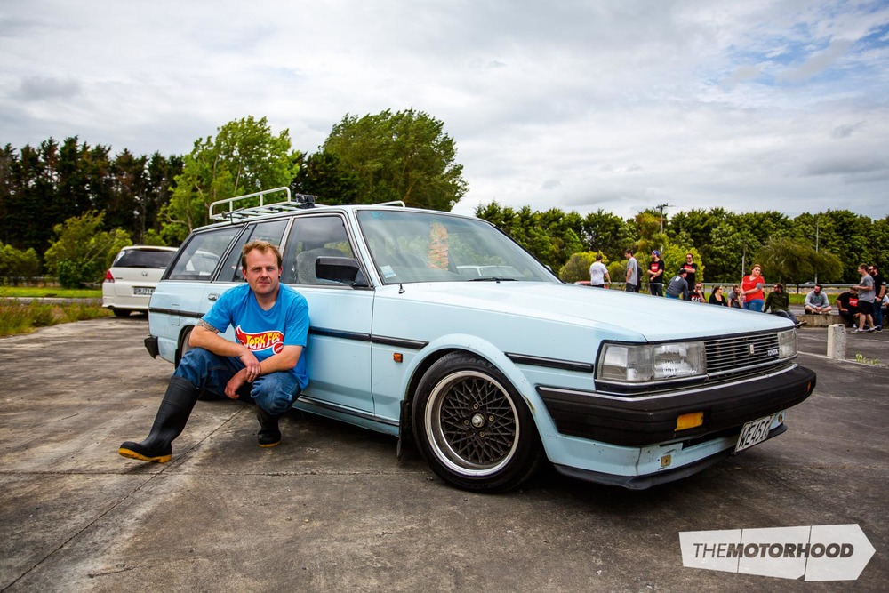 Name: Kelvin Taylor Car: 2.4 Hilux-powered 1988 Toyota Cressida Estate Wheels: 15x7-inch SSR Formula Mesh