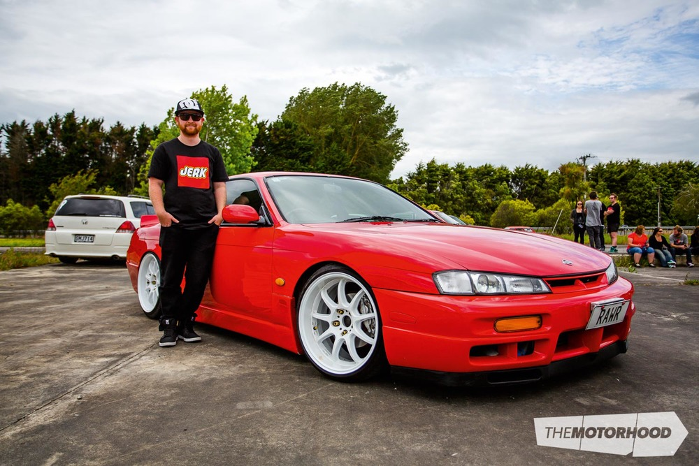 Name: Wayne Thompson Car: SR20DET 1997 Nissan S14  Wheels: 18x9.5-inch Work D9Rs