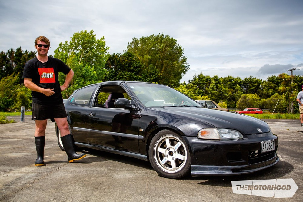 Name: Tony Hennessy  Car: B18CR 1991 Honda Civic EG  Wheels: 15-inch Volk TE37