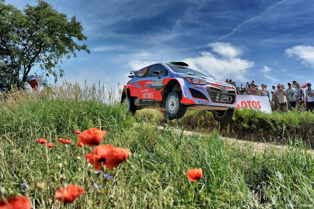 Hayden Paddon and John Kennard WRC Rally Poland action Saturday_2 Vettas Media.jpg