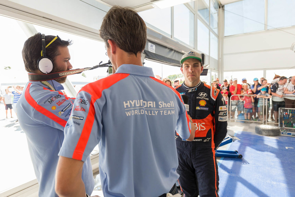 Hayden Paddon WRC Rally Poland service park Saturday_3 Vettas Media.jpg