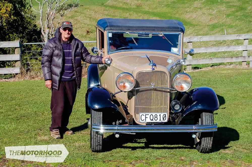 Fred & Kathy Boggiss, Fred with his 1932 Ford Sport Coupe (49).jpg