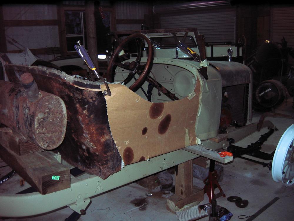 Nigel Fraser, Chevrolet Speedster under construction (2).jpg