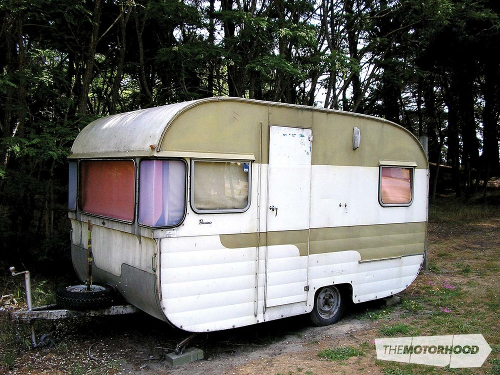 This 1966 Princess was manufactured by the Modern Caravans Group of Dunedin, and still retains its original manufacturer's nameplate and badges. Spotted at Woodend Beach Motor Camp, 2013