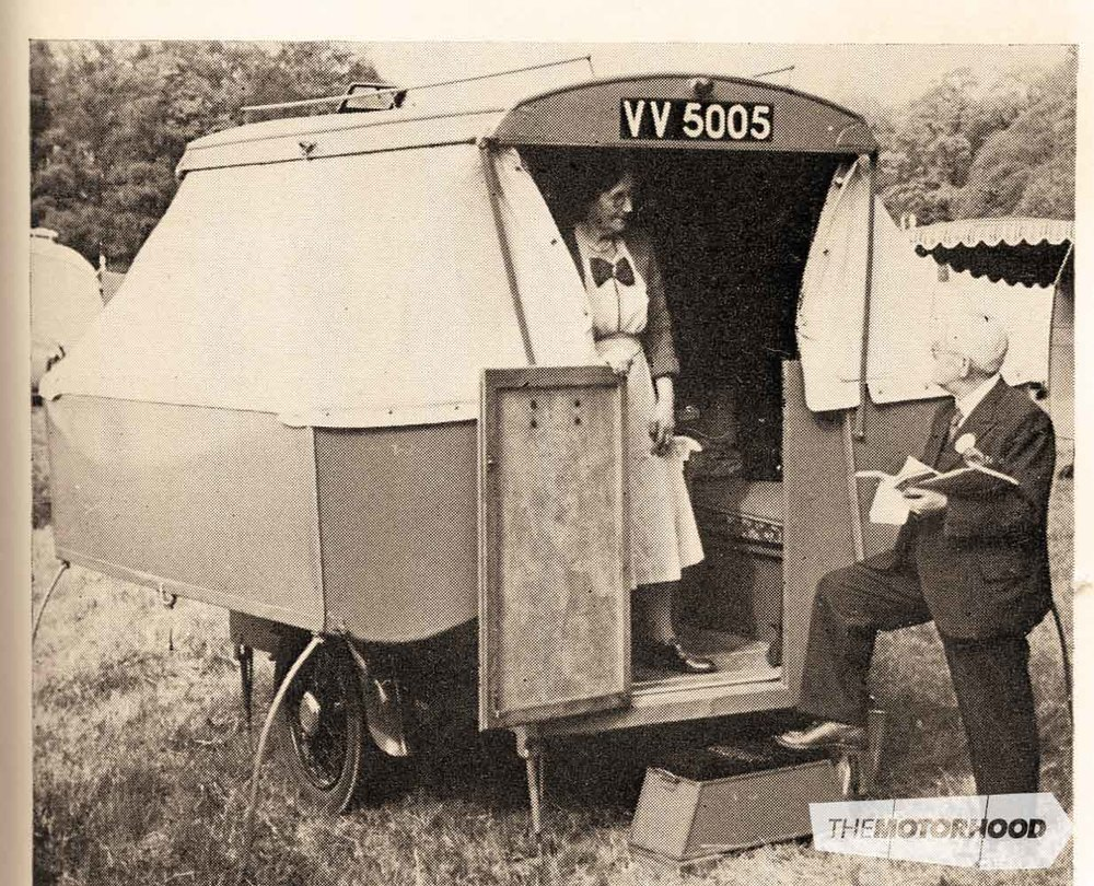 Trevor's father built a trailer-camper exactly like this one around 1955 — Trevor borrowed this before buying his first caravan