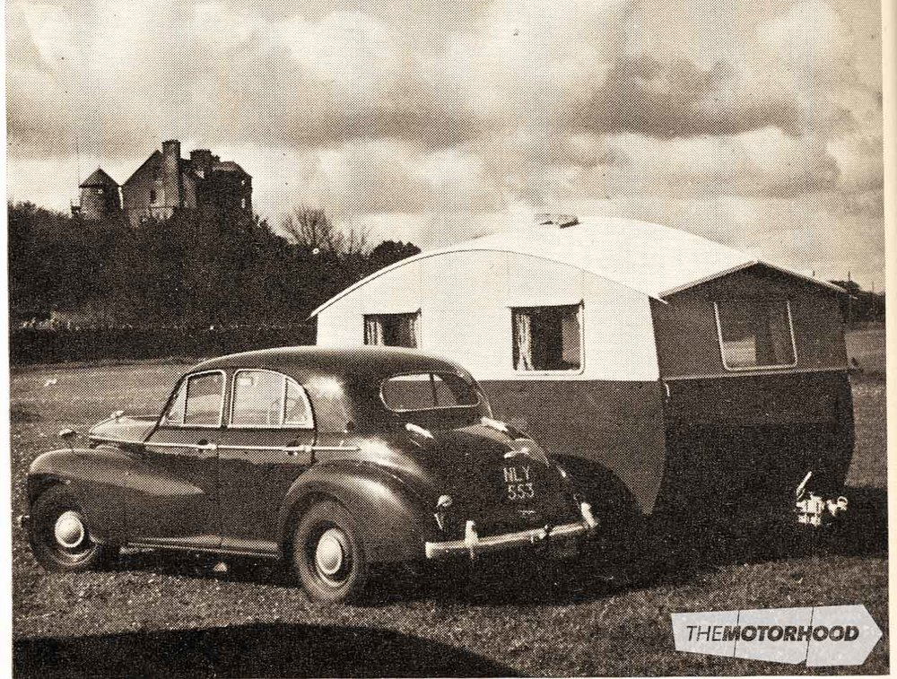 This 1951 Morris Isis is identical to the black example that Trevor's father pulled his trailer-caravan with from 1955–'57. Despite the Morris' big overhead-valve six, the Isis was gutless, and its slow four-speed column gearchange certainly didn't help