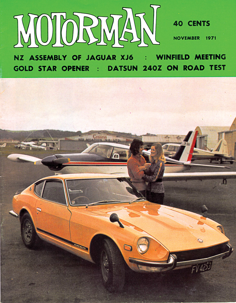 Cover of the November 1971 edition of Motorman, shot at Ardmore airport