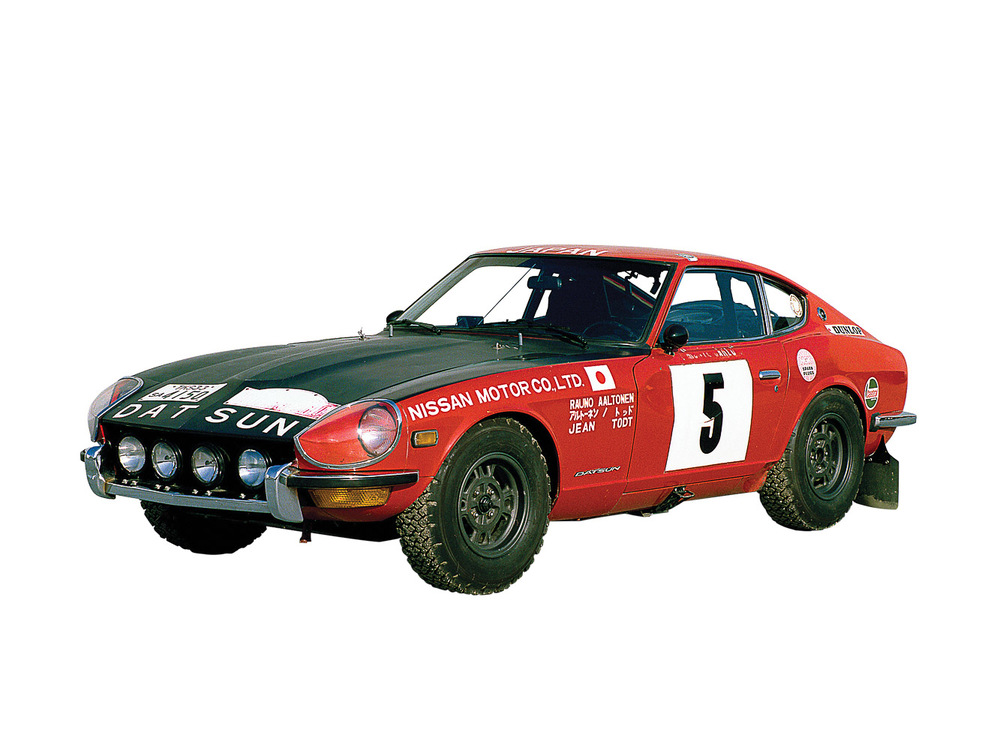 The 240Z was also a successful rally car
