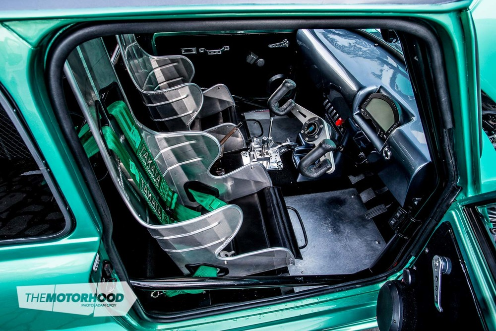 Getting in and out of the Mini is not for the tall or big-boned thanks to the full-containment Kirkey alloy seats