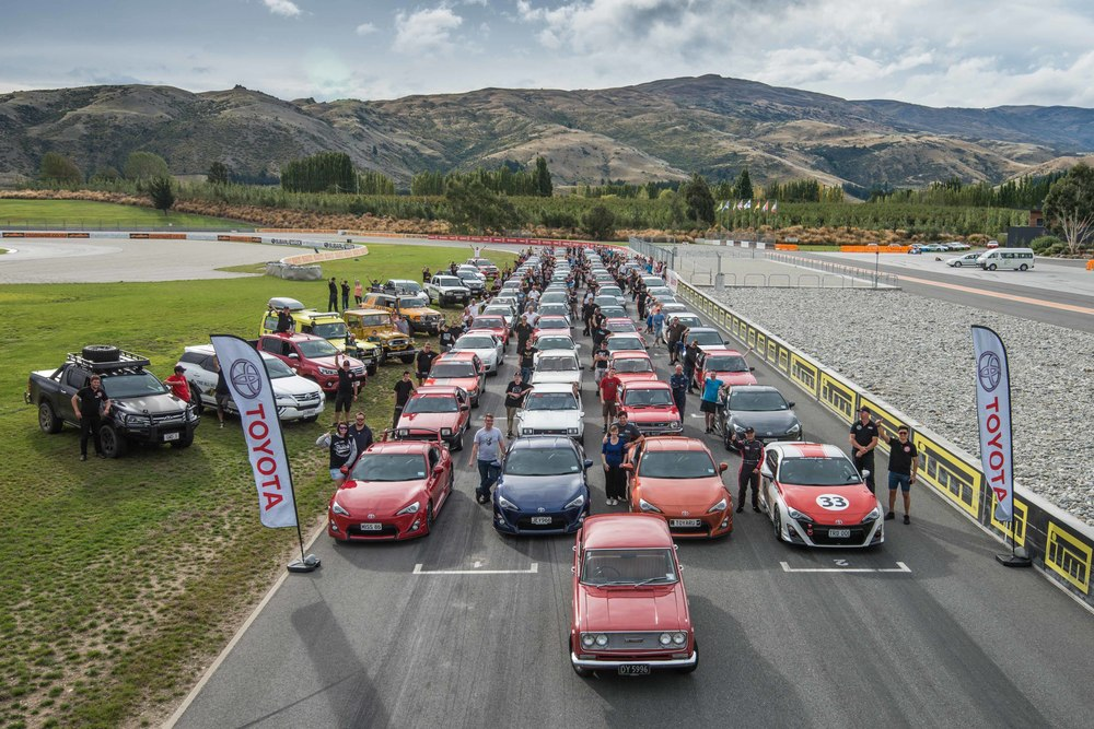 2016 Toyota Festival - drivers and their vehicles lined up on grid at Highland's Motorsport Park in Central Otago .jpg