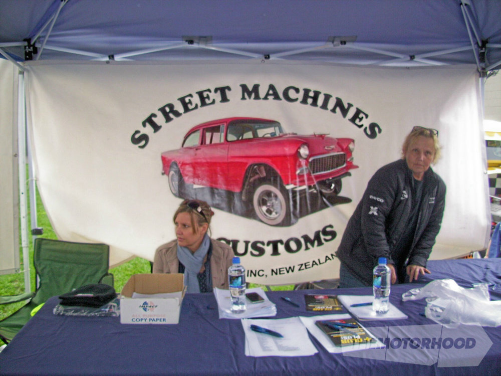 Club members Debbie and Di getting things ready in the control tent.jpg
