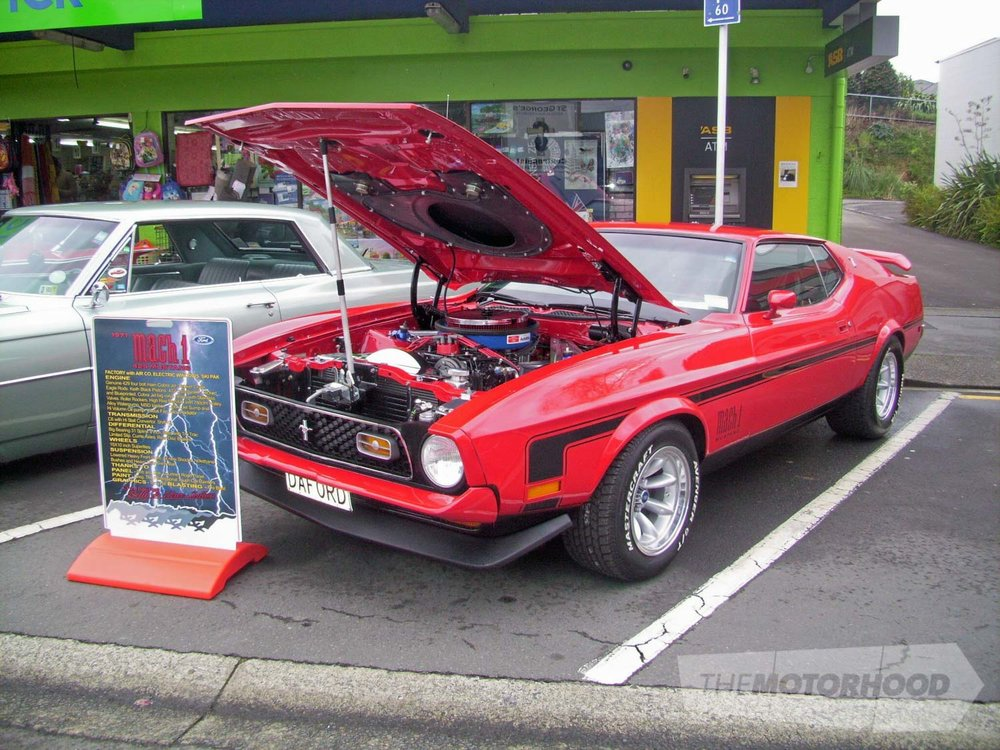 Dave & Betty Sutton from Tauranga own this well presented and  genuine 1971 Mach 1 429 Mustang.jpg
