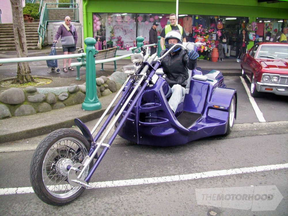 Dave Crawford from Mt Maunganui rode his VW powered trike to the show.jpg