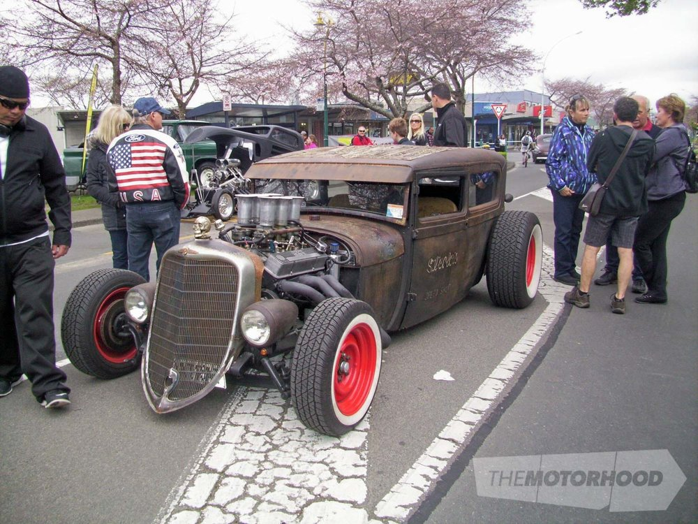 Graeme Steel from Mt Maunganui owns this fully certed  Rat Rod with a 350 Chevy motor in it.jpg