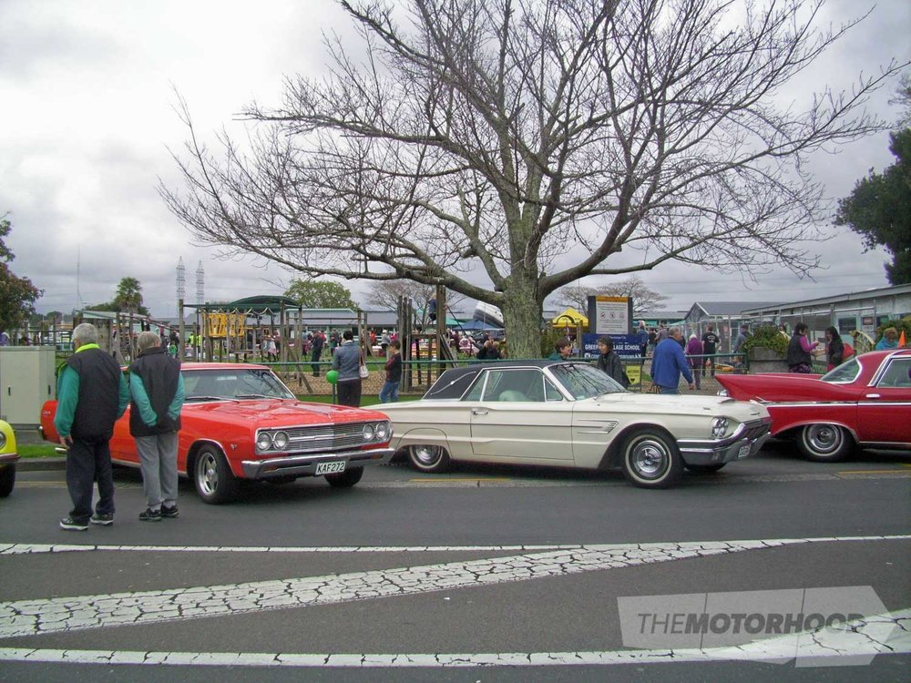 Rex Malder's 65 T Bird was flanked by a 2 door chev and Paton's Chrysler Imperial.jpg