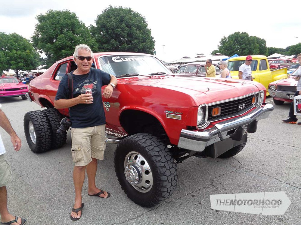 Well known Kiwi Hot Rodder Daryl Gates was in awe with this monster Nova.jpg