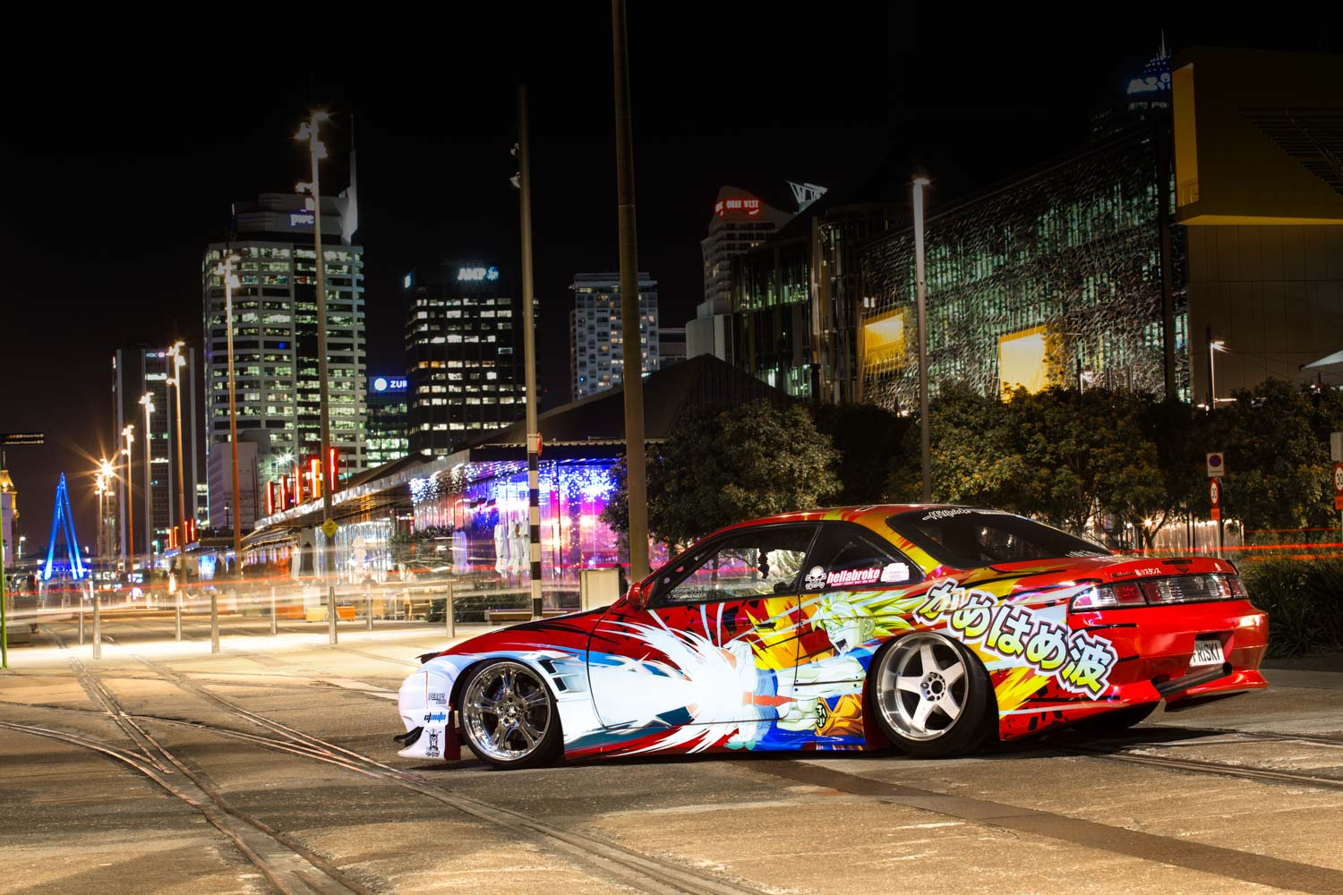 Kamehameha bryces dragon ball z themed 180sx fronted s14