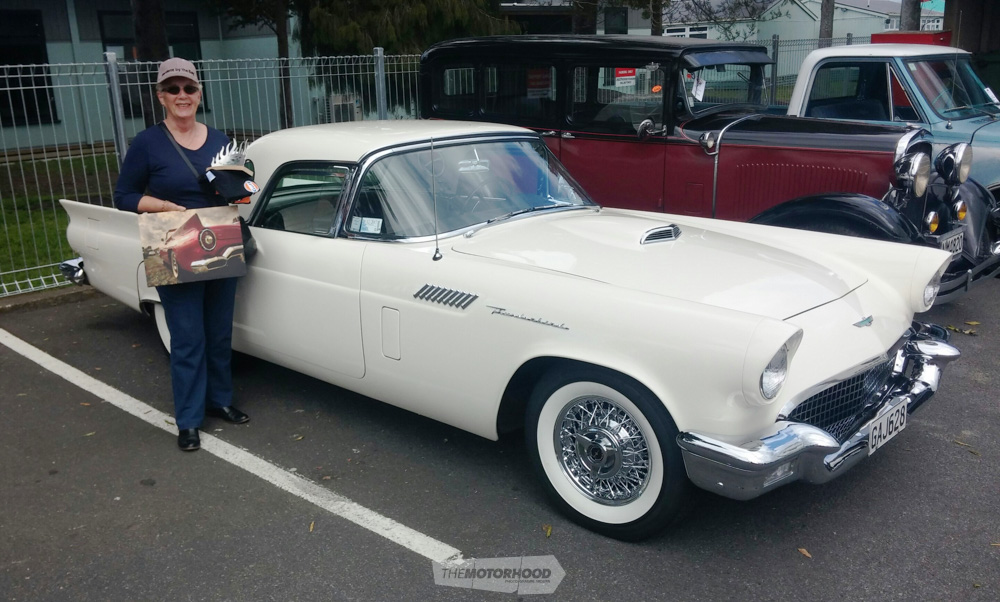 Dot Reeve from Tauranga took two awards home with her for her 57 T Bird. One was the Mainstreet  Choice_.jpg
