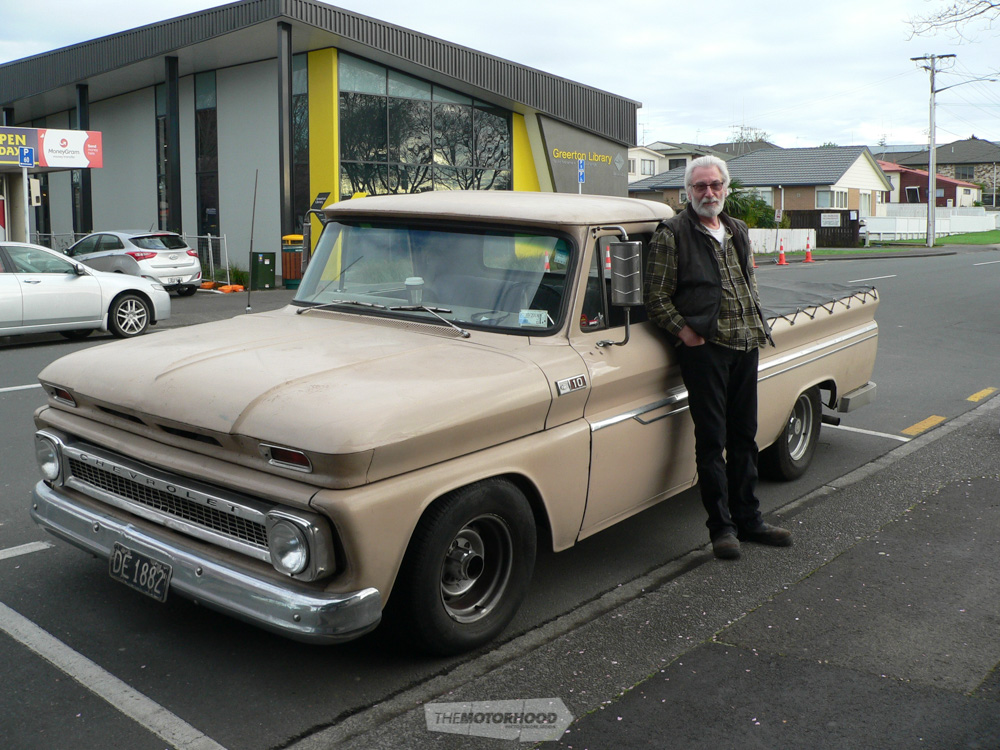 Original foundation committee member Steve Corston came down from Auckland in his Chevy pickup for the d.jpg