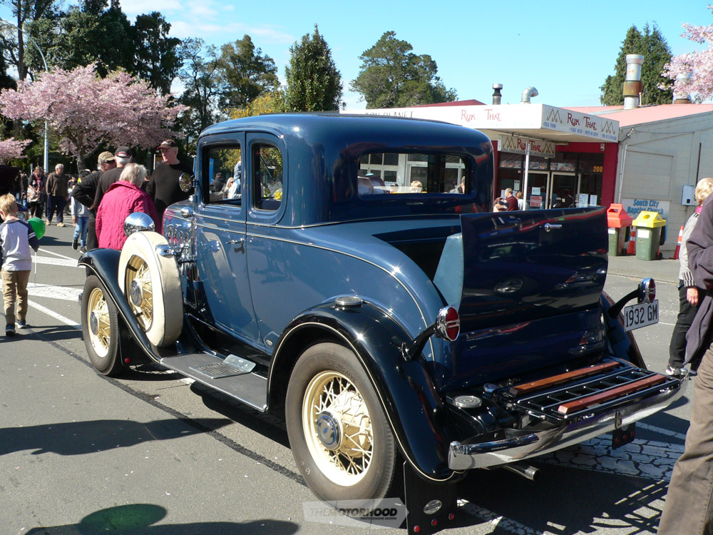 Allan & Katrina Smith's 1932 Chev from Katikati is a Rumble Seat model with twin fender mounted spare wh.jpg
