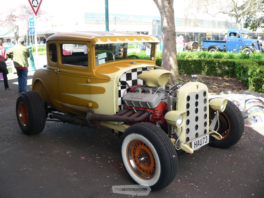 Kevin Wrights 1931 Model A Ford coupe from SM&Cs is a duel purpose hot rod doing both Street and Strip d.jpg