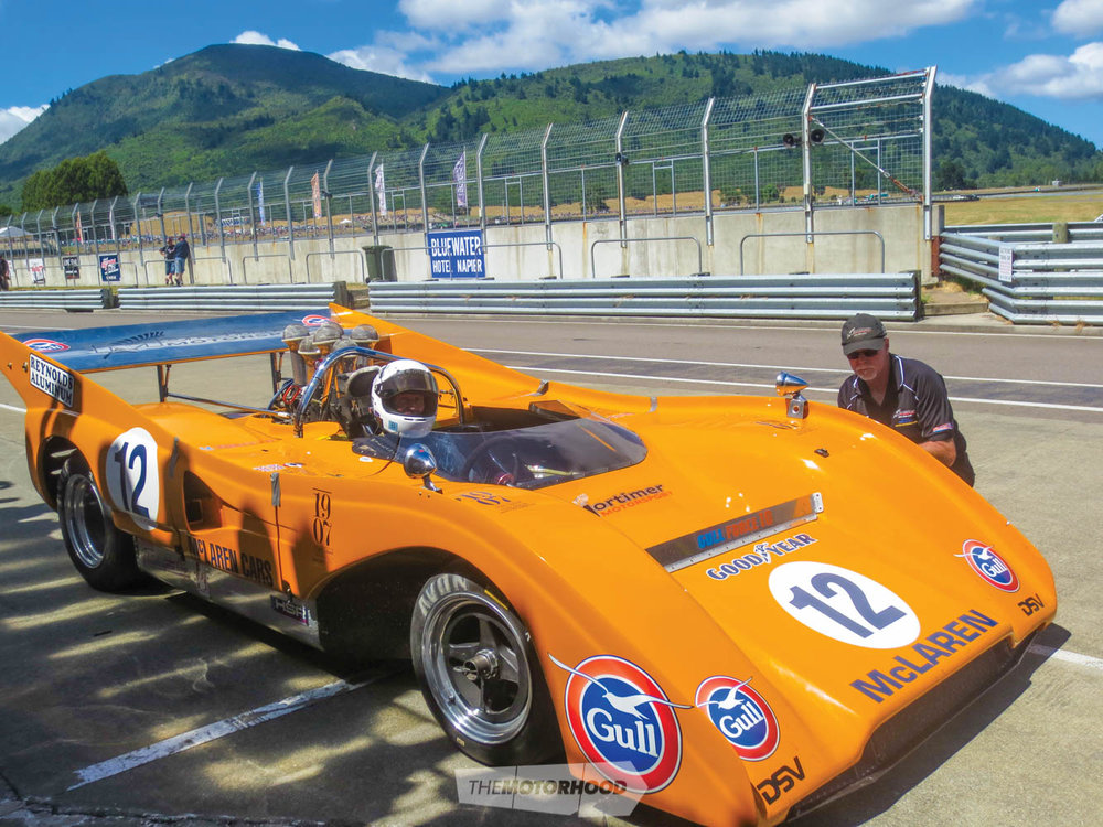 Bruce McLaren's daughter Amanda tries out the M26