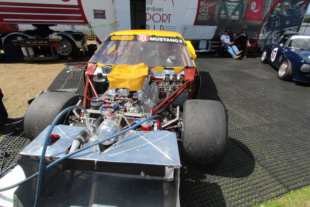 Back on track: Sunday and the team has repaired the PDL Mustang of Todd Stewart