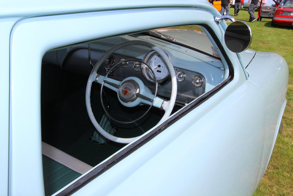 Interior of the winning '49 Ford
