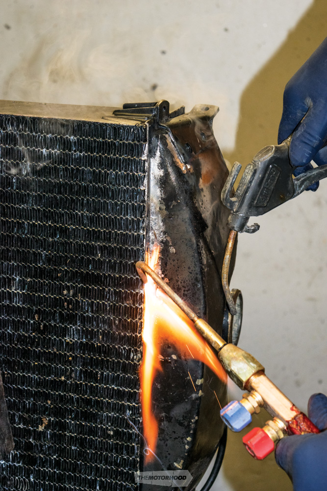 Intricate work - Rebuilding an original radiator is time consuming and costly, but well worth it