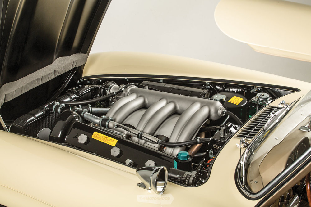 A fully restored Mercedes Benz 300SL Bosch direct-injection system