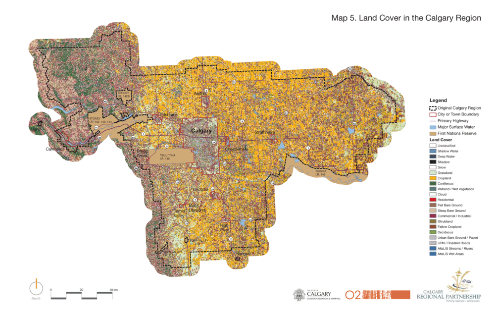 Land Cover in the Calgary Region